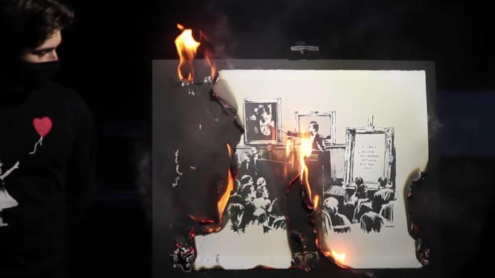 לשרוף את בנקסי ולהרוויח ב אומנות דיגיטלית